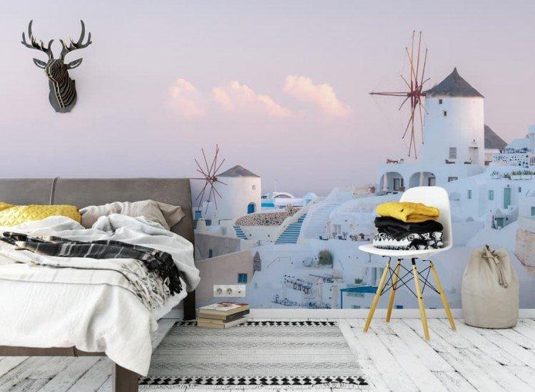 Сгради и забележителности-Фототапет Бели мелници в село Оя