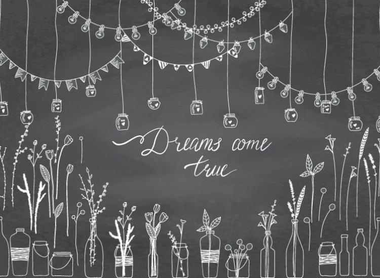 Думи и цитати-Фототапет Dreams come true