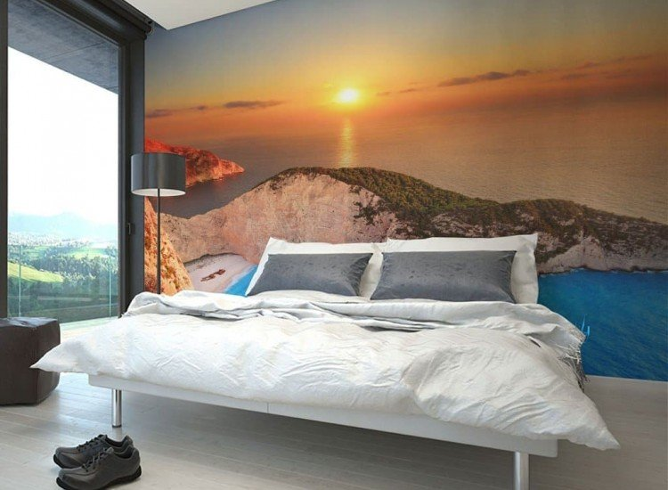 Морски и тропически-Фототапет Залез над остров Закинтос