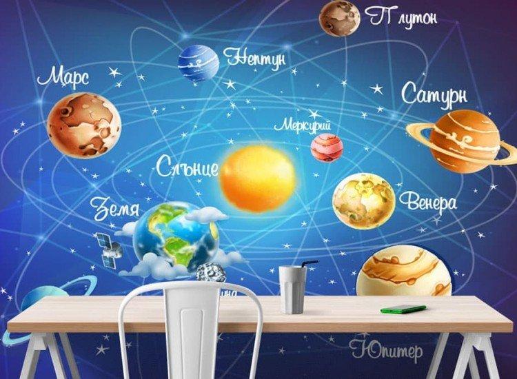 Детски фототапети-Фототапет Слънчева система за деца