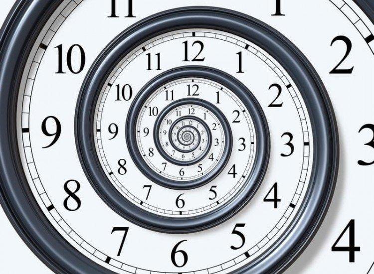 Винтидж фототапети-Фототапет Спираловиден часовник