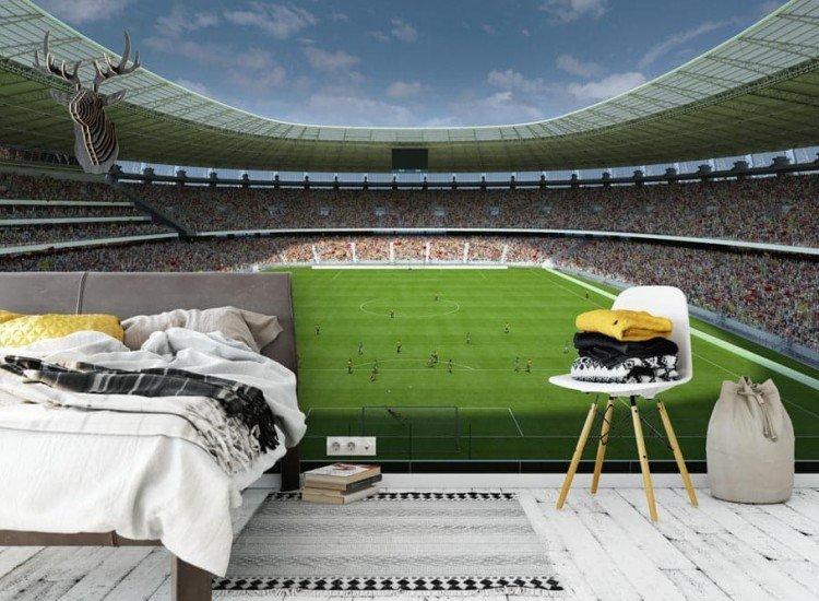 Спортни-Фототапет Футболен стадион отвътре