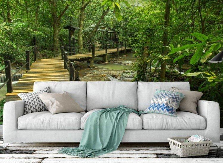 Пейзажи и природа-Фототапет Мост над потока