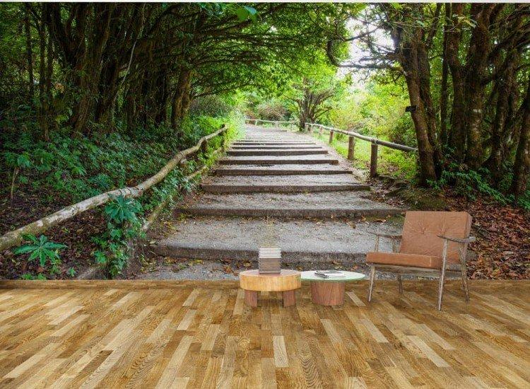 Пейзажи и природа-Фототапет Пътека в перспектива