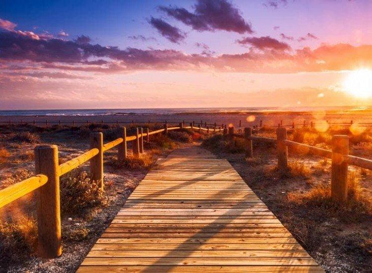 Морски и тропически-Фототапет Залез до Алмерия, Андалусия