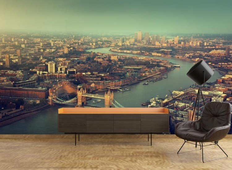 Градски пейзажи-Фототапет Въздушен поглед над Лондон