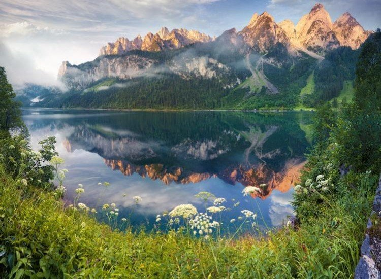 Пейзажи и природа-Фототапет Лятно утро в автрийските Алпи