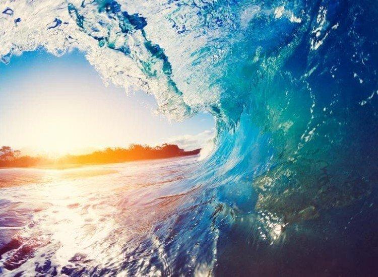 Морски и тропически-Фототапет Сини океански вълни