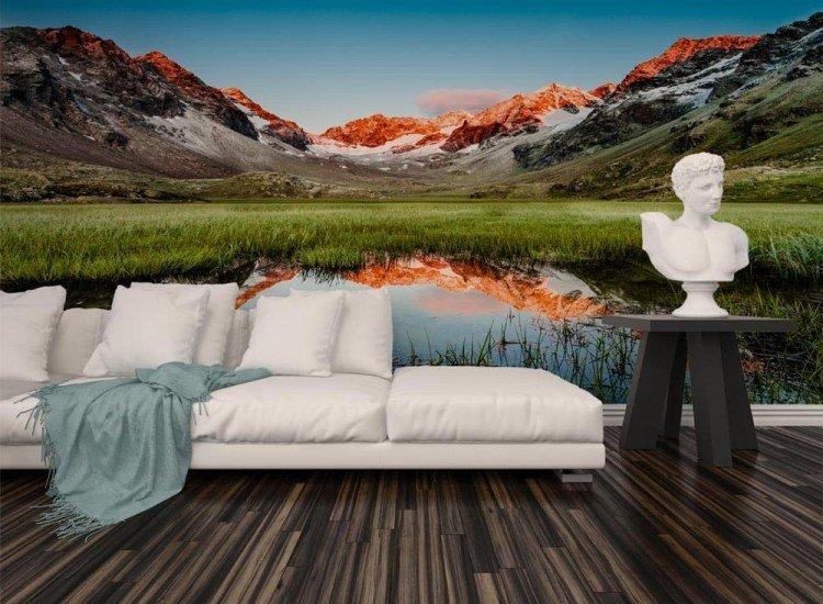 Пейзажи и природа-Фототапет Планински пейзаж в Алпите