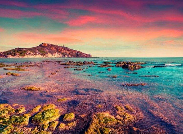 Морски и тропически-Фототапет Залез над Тиренско море