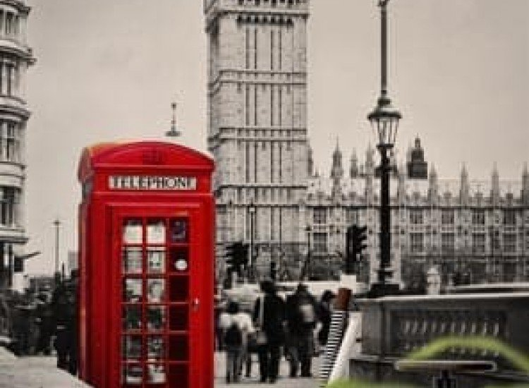 Сгради и забележителности-Фототапет Лондон в черно и бяло