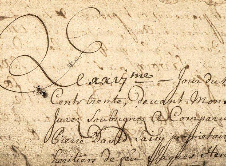 Винтидж фототапети-Фототапет Ръкописен латински текст