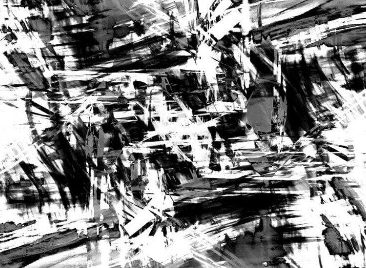 Модерни графики-Фототапет Арт черно-бял фон