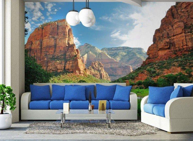 Пейзажи и природа-Фототапет Зайон каньон, САЩ