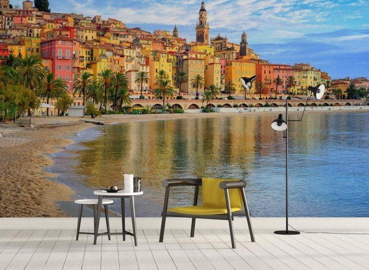 Градски пейзажи-Фототапет Град Ментон, Френската Ривиера