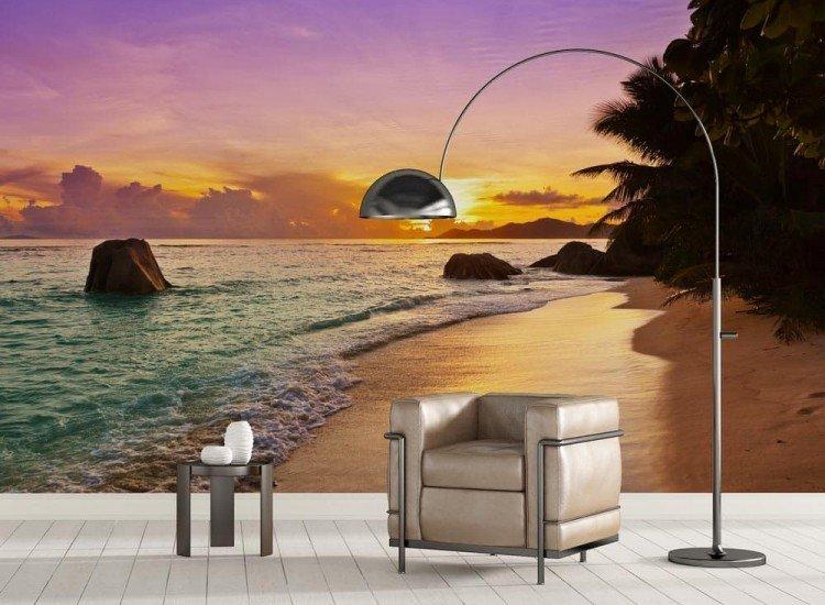 Морски и тропически-Фототапет Залез на тропически плаж