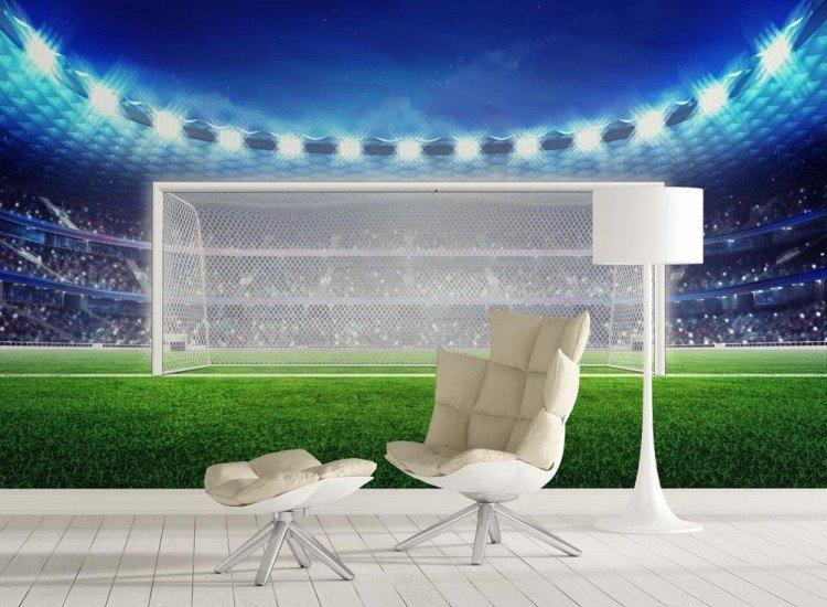 Спортни-Фототапет Празен футболен стадион