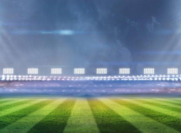 Спортни-Фототапет Осветен футболен стадион