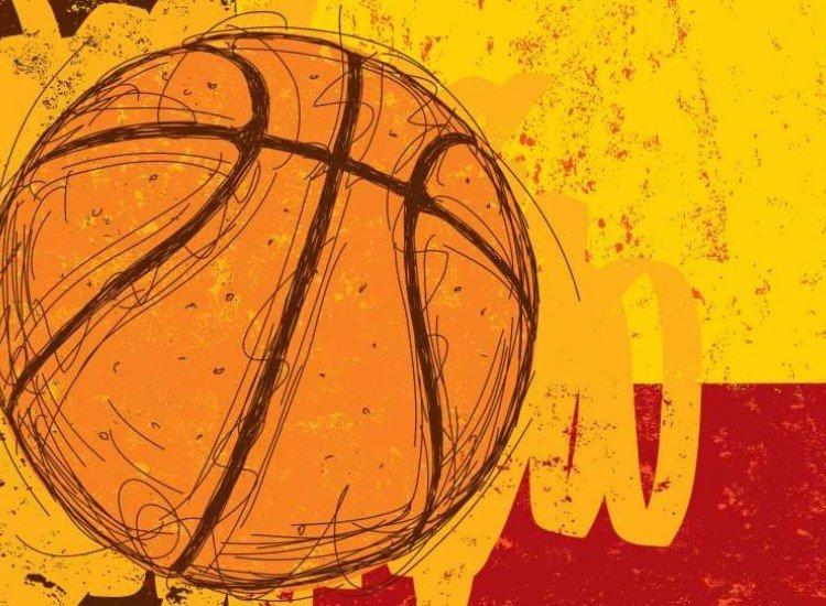 Тийн-Фототапет Скица на баскетболна топка