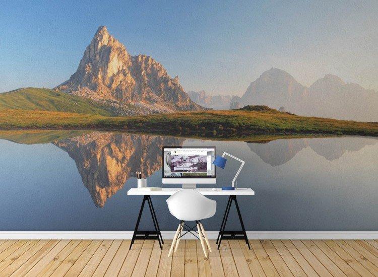 Пейзажи и природа-Фототапет Отражения в планинско езеро