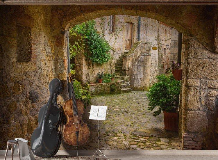 Винтидж фототапети-Фототапет Италианско село