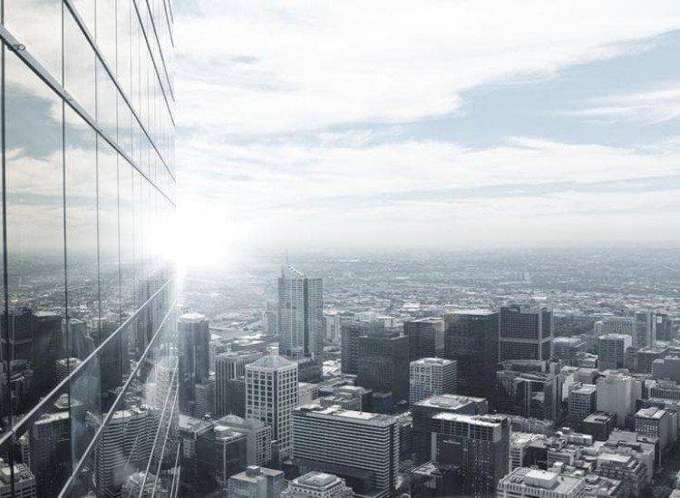 Градски пейзажи-Фототапет Поглед към града