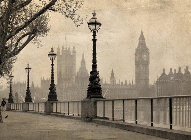 Сгради и забележителности-Фототапет Лондон в мъгла