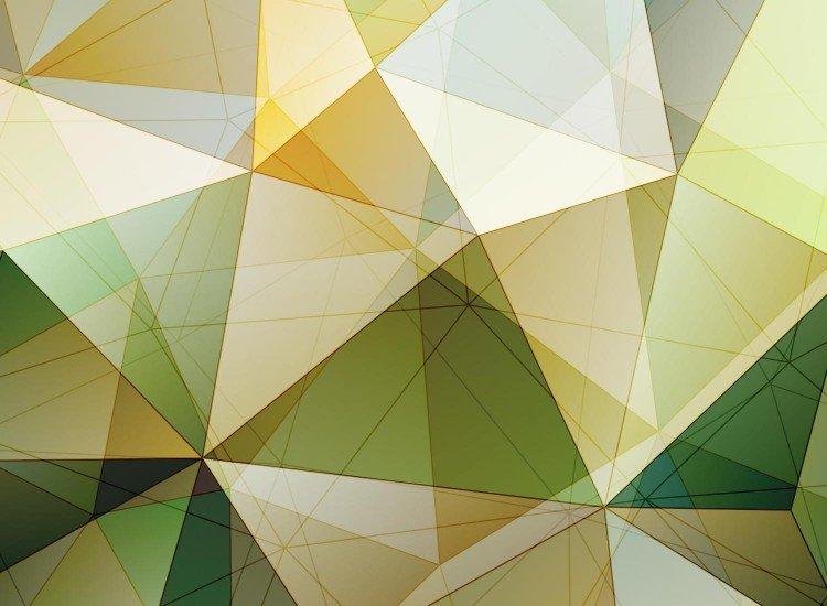 Фототапет Зелени триъгълници
