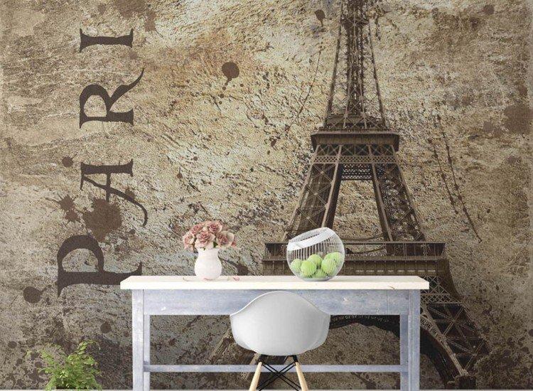 Винтидж фототапети-Фототапет Винтидж илюстрация на Париж
