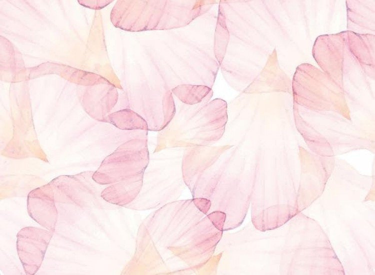 Цветя-Фототапет Акварелни листчета