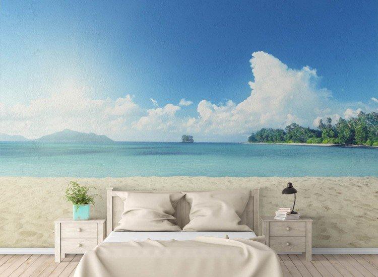 Морски и тропически-Фототапет Сейшелски пейзаж