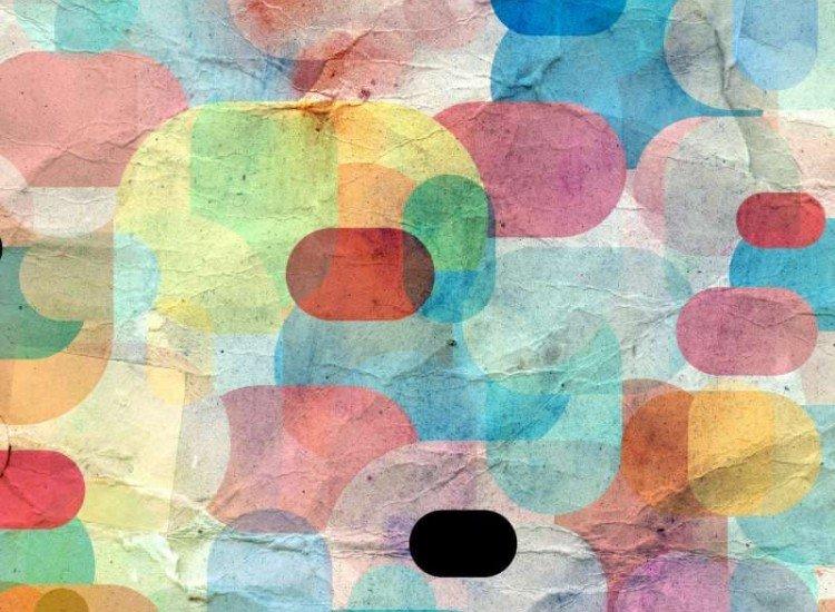 Текстури-Фототапет Цветни геометрични елементи
