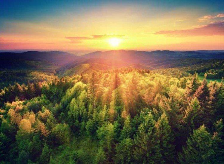 Пейзажи и природа-Фототапет Живописен залез