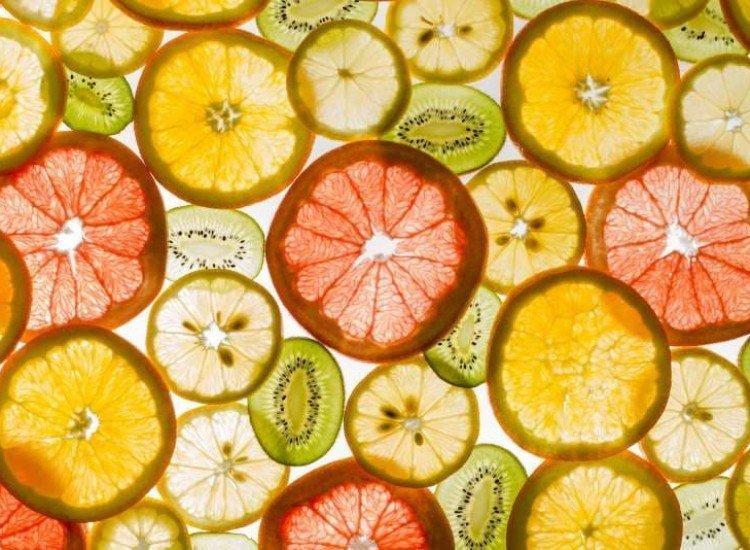 Храни и напитки-Фототапет Нарязани плодове