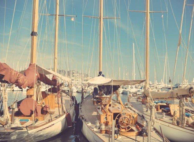 Морски и тропически-Фототапет Порт Марина в Халкидики