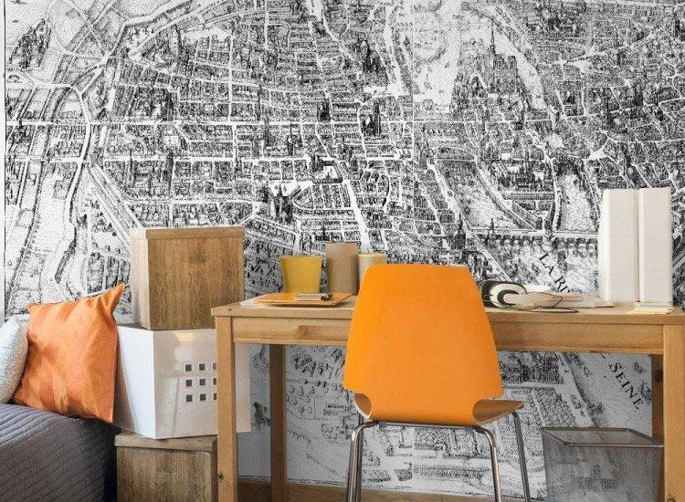 Карти-Фототапет Карта на Париж