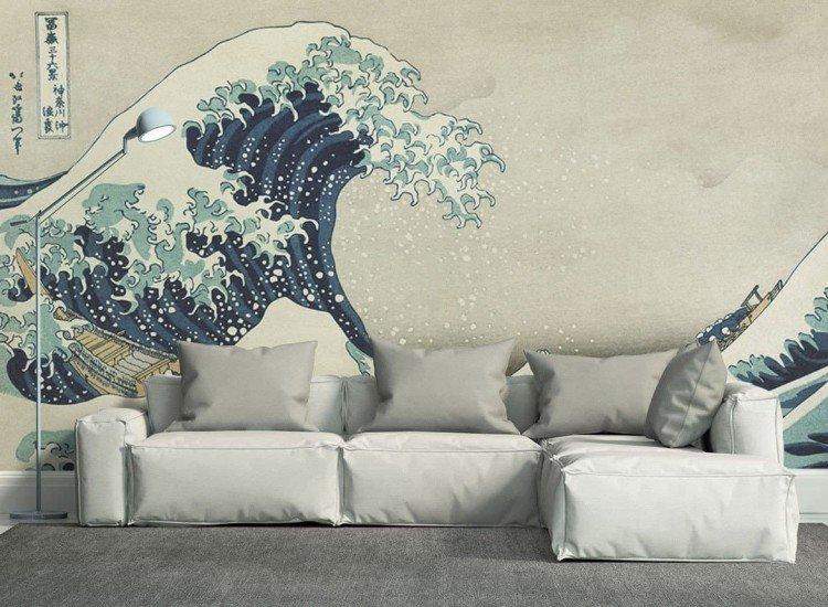 Изкуство и музика-Фототапет Голямата вълна в Канагава