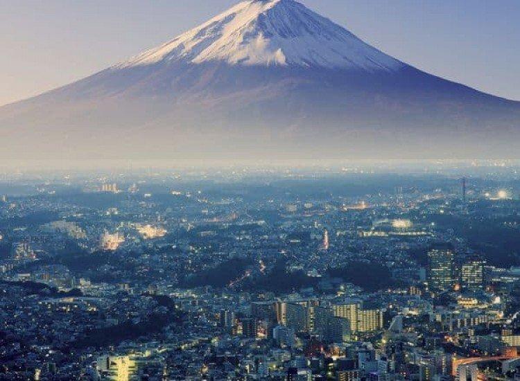 Пейзажи и природа-Фототапет Изглед към Фуджи