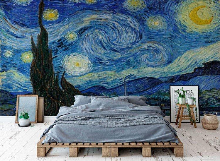 Арт репродукции-Фототапет Звездна нощ, Винсент ван Гог