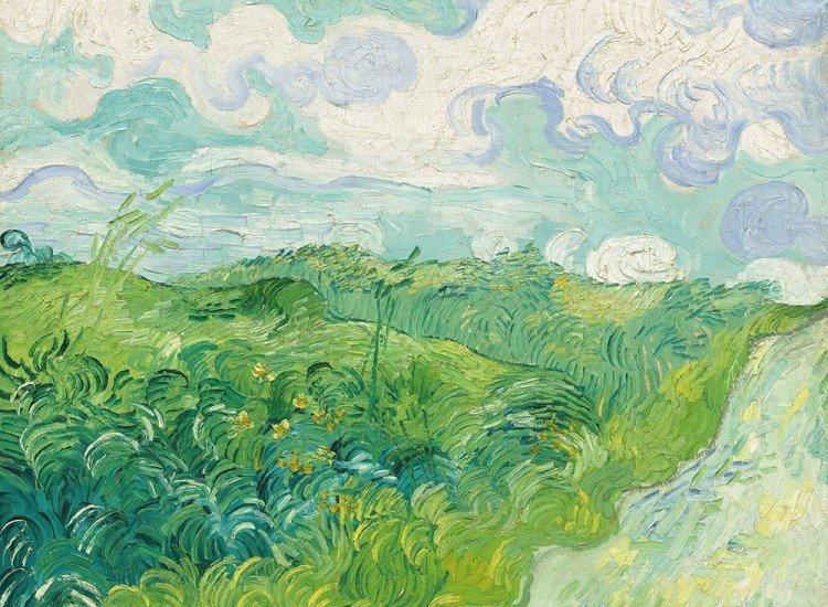 Арт репродукции-Фототапет Зелени пшенични полета, Винсент ван Гог