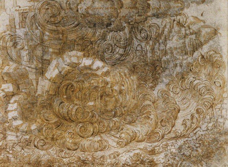 Арт репродукции-Фототапет A deluge, Da Vinci