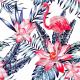 Животни и дива природа-Фототапет Розово фламинго