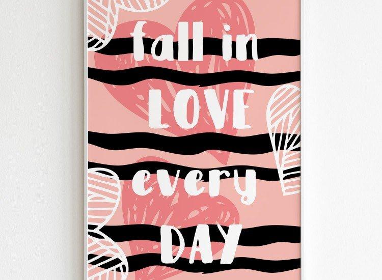 Картини-Картина Fall in love every day