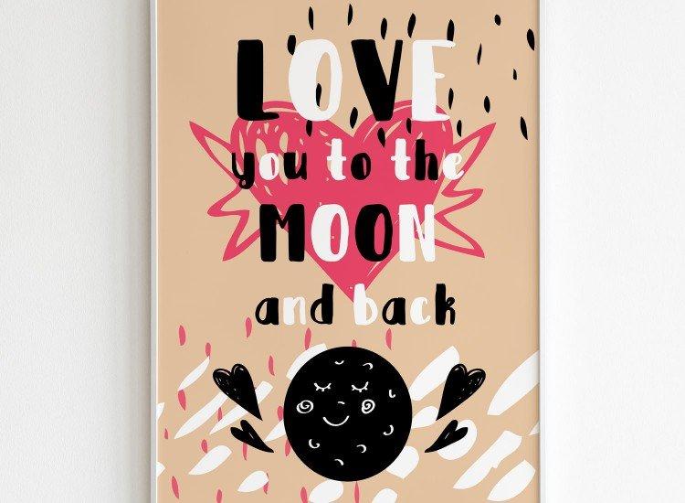 Картини-Картина Love you to the moon and back