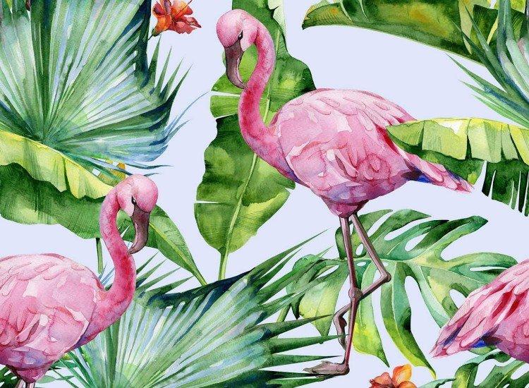 Тапети-Дизайнерски Тапет Фламинго