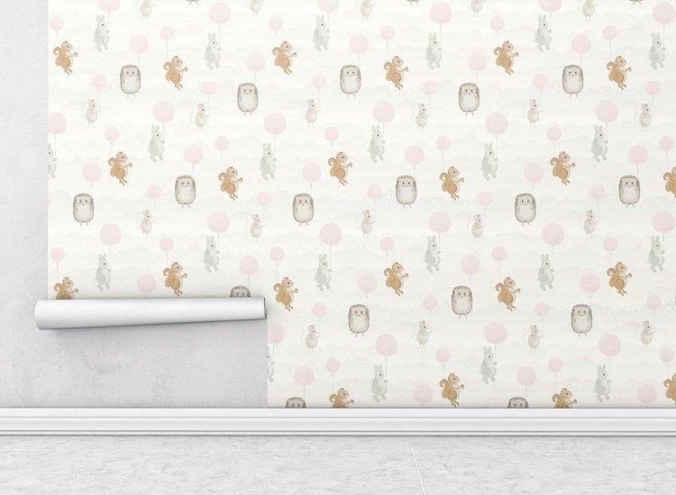 Тапети-Дизайнерски Тапет Горски приятели Pink