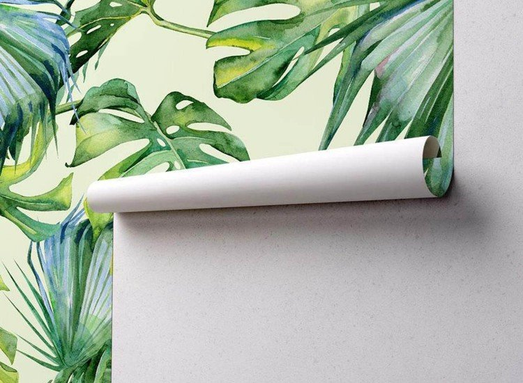 Тапети-Дизайнерски Тапет Тропически листа
