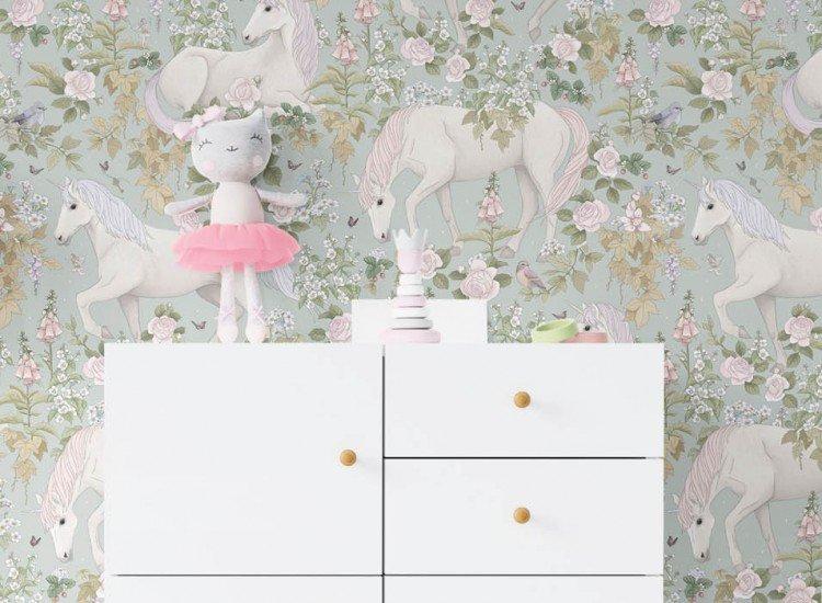 Тапети-Дизайнерски Тапет Unicorn Gray
