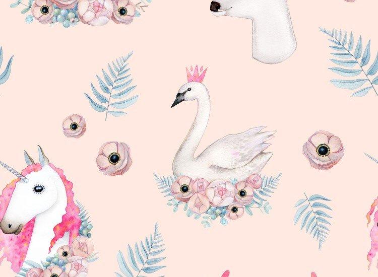 Тапети-Дизайнерски Тапет Flowers Animals