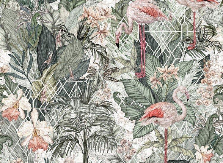 Тапети-Дизайнерски Тапет Flamingo